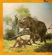 Masekela -- I Am Not Afraid Label: Blue Thumb Records No copyright infringement intended. Hugh Masekela, Cover Art, Old School, Moose Art, Elephant, Album, Jazz, Painting, Animals