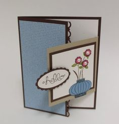 I love this fold....I've used it on a variety of cards including Christmas.