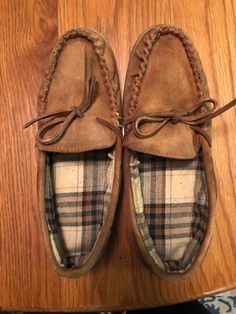 8b0eb09ee9d Women s Moccasins Plaid Lining With Rubber Soles Size 7 8  fashion   clothing