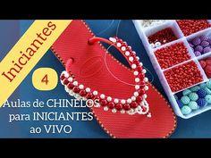 Aulas de CHINELOS BORDADOS ao VIVO (Aula 4) Para Iniciantes - Maguida Silva - YouTube