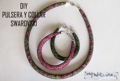 DIY SWAROVSKI PULSERA COLLAR | MY WHITE IDEA DIY Swarovski Bracelet, Beaded Bracelets, Arm Party, Bijoux Diy, Jewelery, Crafty, Personalized Items, Beads, Inspiration