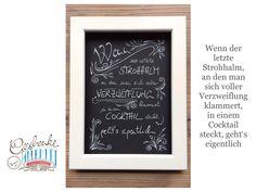 Tunella's Geschenkeallerlei präsentiert: Faser- und Gelstift auf Papier - Doodelei - Wenn der letzte Strohhalm, an den man sich voller Verzweiflung klammert, in einem Cocktail steckt, geht's eigentlich #TunellasGeschenkeallerlei #Doodelei #Faserstift #Gelstift #handgemacht #Geschenk #Weisheit #Sprüche Cocktails, Art Quotes, Chalkboard Quotes, Doodle, Etsy Seller, Unique Jewelry, Handmade Gifts, Paper, Gifts