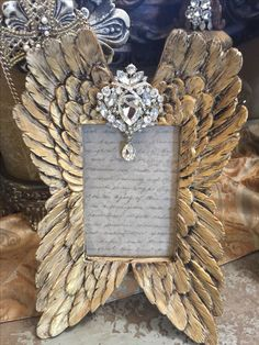 Angel wings jewelry frame