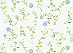 Florielle by Sanziana Toma - A floral joyful pattern with vector dutch inspired motifs. Decorative and detailed.Included in the Extended License