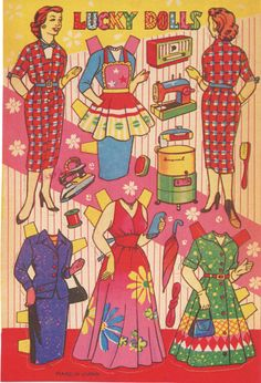 From the 1940s or 1950s, I believe.#paper Dolls