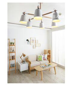 Подвесной СВЕТИЛЬНИК гостиной лампа современный минималистский поглощения подвеска свет сад столовая спальня деревянный освещение 409 купить на AliExpress
