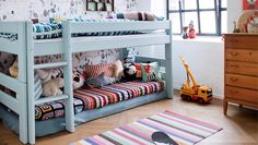Isabelle McAllister: How to decorate your baby's room - Family Living Low Bunk Beds, Kids Room Design, Kids Decor, Home Decor, Kid Spaces, Kids House, Girls Bedroom, Baby Room, Kidsroom