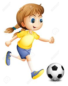 Find Illustration Young Woman Playing Football On stock images in HD and millions of other royalty-free stock photos, illustrations and vectors in the Shutterstock collection. Thousands of new, high-quality pictures added every day. Cartoon Clip, Cartoon Kids, Cartoon Images, Art Drawings For Kids, Art For Kids, Letra Drop Cap, Theme Sport, Sports Clips, Boy Illustration