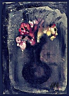 Blumen in Vase - Künstler: Reinhard Schäffler