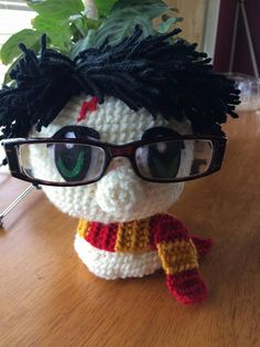 Harry Potter Glasses Holder - free crochet pattern by Anna's Amigurumi's.