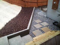 More stepping stones to come & adding a few shrubs in fall.
