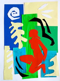 Inspired to Matisse's collage, the students of 9th grade realized this collage starting from a magazine picture of  any whole figure. This figure has been stylized in a simple silhouette and cut ou...