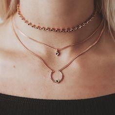 Diamond Kite Choker- Rose Gold | Luv Aj