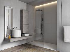 Wood-product bathroom furniture set CUBIK N°11 Cubik Collection by IdeaGroup