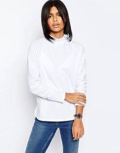 ASOS Sweatshirt With High Neck