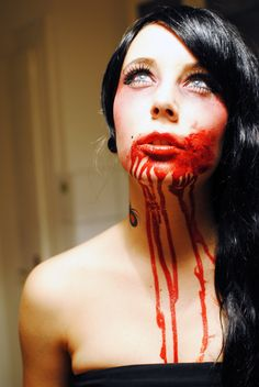 Great Halloween makeup idea, add this to any costume and you'll be unique... Vampire Sailor, Vampire Pumpkin (?!).