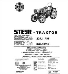 Steyr 8150 8170 Spare Parts Catalog download in 2020