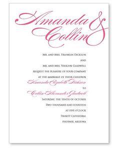 Sophisticated Script Wedding Invitation | Wedding Invitation