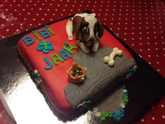 "Hond ""Bob"" taart, Bibi 7 jaar"
