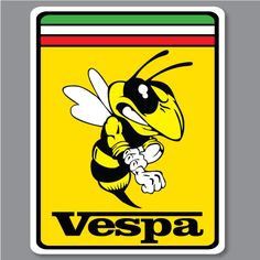2X VESPA PIAGGIO FERRARI Bee Biene Hornet WASP Aufkleber Decal Piaggio Scooter, Moto Scooter, Vespa Ape, Vespa Scooters, Scooter Parts, Vespa Illustration, Vespa Logo, Ferrari, Motos Vespa