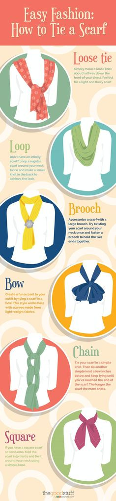 Easy Fashion: How to Tie a Scarf, Several Ways