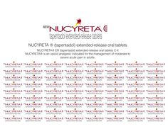 Nucyreta ® (tapentadol) extended release oral tablets
