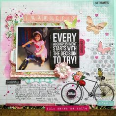 Two Wheels - Kaisercraft Kaleidoscope Layouts (Artfull Crafts) 12x12 Scrapbook, Scrapbooking Layouts, First Blog Post, Yesterday And Today, Gift Baskets, Card Making, Paper Crafts, Projects, Project Ideas
