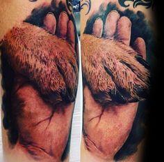 Afbeeldingsresultaat voor paw and hand tattoos