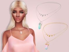 Maria Maria: Necklace with Crystal • Sims 4 Downloads