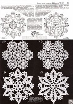 Patterns and motifs: Crocheted motif no. 21