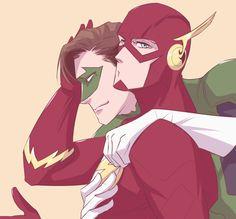 The Flash and Green Lantern.