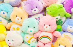 🐑 Plushies 🐻 uploaded by on We Heart It Rainbow Aesthetic, Pink Aesthetic, Childhood Toys, Childhood Memories, Care Bears Plush, Never Grow Up, 90s Kids, Plushies, Softies