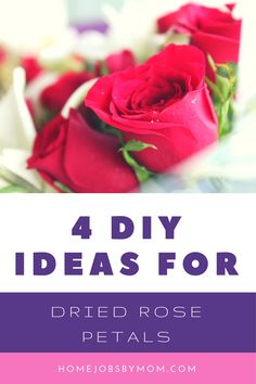 4 DIY Ideas For Dried Rose Petals. There are a ton of cool things you can do with dried roses beside adding their natural beauty to your home decor. Explore 4 DIY Ideas For Dried Rose Petals Dried Rose Petals, Flower Petals, Craft Tutorials, Diy Projects, Fun Crafts, Diy And Crafts, Healthy Living Magazine, Do It Yourself Crafts, Love Craft