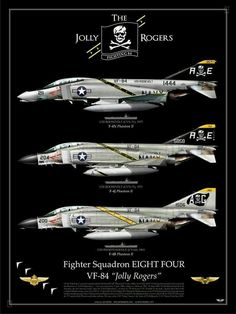 The Jolly Rogers Military Jets, Military Aircraft, Air Fighter, Fighter Jets, Tomcat F14, Photo Avion, Us Navy Aircraft, F4 Phantom, Aircraft Painting