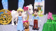 Enter the magical world of LEGO Juniors Disney Princess with Cinderella's horse-drawn carriage, plus a castle with a ballroom, Cinderella's puppy, the dashin. Lego Duplo Sets, Enchanted Castle, Frozen Sisters, Lego Juniors, Cinderella Carriage, Disney Princess Cinderella, Lego Toys, Stop Motion, Rapunzel