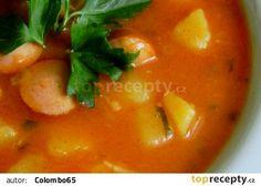 Frankfurtská jemná polévka recept - TopRecepty.cz Thai Red Curry, Ethnic Recipes, Food, Red Peppers, Losing Weight, Essen, Meals, Yemek, Eten