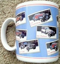 USPS Coffee Mug Classic Cars Style Number L76610 by Papel Freelance