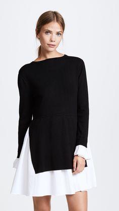 a39206d8893705 ENGLISH FACTORY Knit Combo Dress. Schwarze BootsStiefelHerbstSommerKleiderJugend  ...