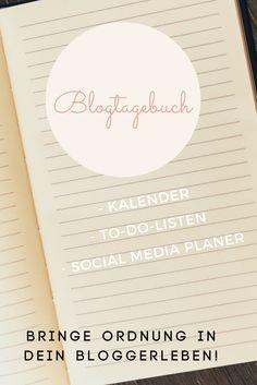 Bloggen - Bringe mit diesem Blogtagebuch Ordnung in Dein Bloggerleben!