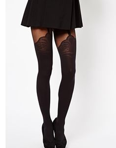 Browse online for the newest ASOS Tights With Decorative Suspender Detail styles. Shop easier with ASOS' multiple payments and return options (Ts&Cs apply). Shorts With Tights, Tight Leggings, Pretty Outfits, Cute Outfits, Bas Sexy, White Tights, Fashion Tights, Inspiration Mode, Sexy Stockings