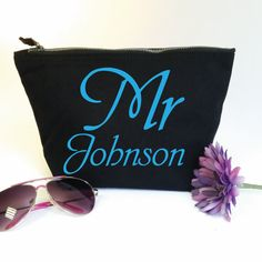 Mr Personalised Wash Bag for Him. Toiletry Bag. Cosmetics Bag. Accessory Bag. Wedding Gift. Grooms Gift. Birthday Gift. Fathers Day by SoPinkUK on Etsy