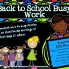 ***UPDATED 7/23/14***  Back to school busy work for first grade from Tanya Holk at First Grade is Fantabulous!  ***********************************...