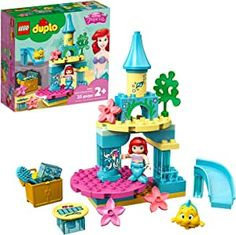 LEGO DUPLO Disney Ariel's Undersea Castle 10922 Imaginative Building Toy for Kids; Ariel and Flounder's Princess Castle Playset Under The Sea, New 2020 (35 Pieces) Little Mermaid Movies, Little Mermaid Doll, Mermaid Dolls, Lego Disney Princess, Princess Toys, Building Toys For Kids, Ariel And Flounder, Lego Super Mario, Lego System