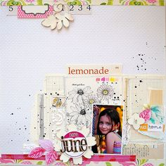 #papercraft #scrapbooking #layout    June, Elles Studio GD July by Tara Anderson, via Flickr
