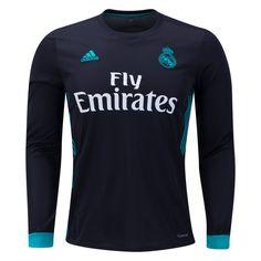 adidas Real Madrid Long Sleeve Away Jersey 17 18 Real Madrid Fußball 5ceca400bc3