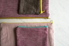 Simple Lined Zipper Pouches | The Purl Bee