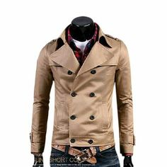 Men's Double Breasted Short Jacket )