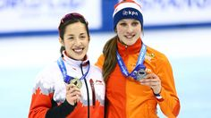 Dec.12 2015 - Valerie Maltais Suzanne Schulting ,SHANGHAI - Valerie Maltais won gold in the women's 1,000 metres Saturday while teammate Charles Hamelin finished first in the men's 1,500 on a three-medal day for Canada at the ISU Short-Track Speedskating World Cup.  The Canadian Press