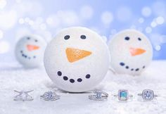 Snowman Bath Bomb Charmed Aroma Candles, Bath Bombs With Rings, Liquid Coconut Oil, Vanilla Cream, Shea Butter, Snowman, Fragrance, Perfume, Snowmen