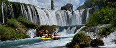 Kayaking towards breathtaking Zrmanja waterfall - CROATIA